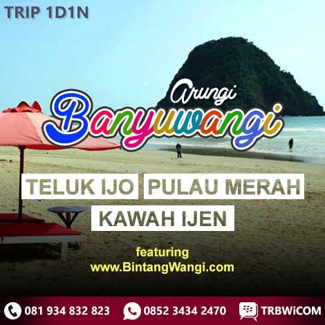 Paket Trip Tour Wisata Banyuwangi Teluk Hijau Pulau Merah Kawah Ijen
